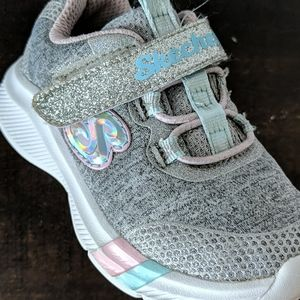 Sketchers toddler sneakers size 7 glitter